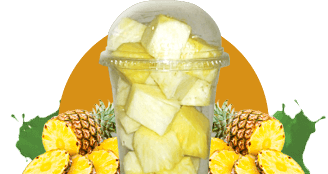 Ananas Obsttbecher